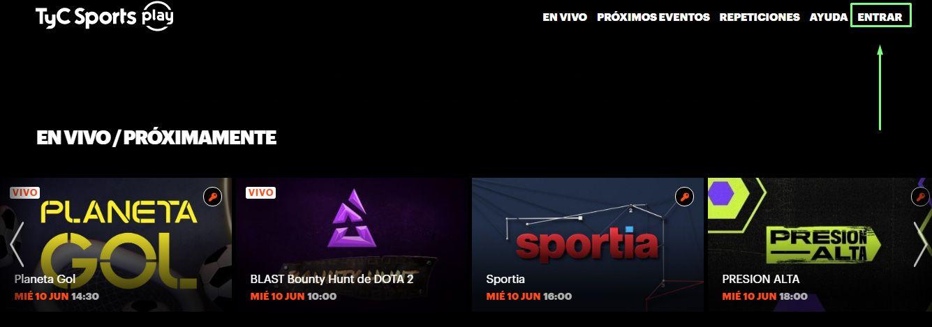 ver tyc sports play en vivo