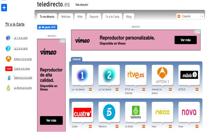 Teledirecto para tv cable gratis