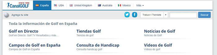 ver golf en directo