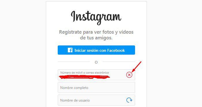 instagram no me deja crear una cuenta por estar ya registrado
