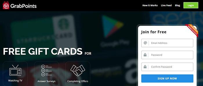 ganar tarjetas de Google Play con grabpoints