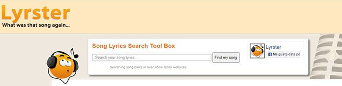 lyrster para reconocer musica online