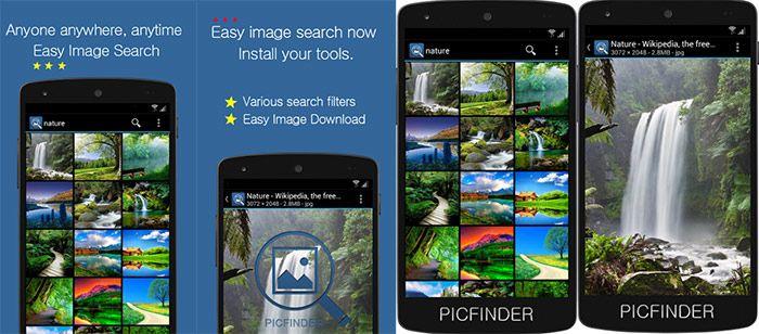 aplicaciones para descargar imagenes y videos picfinder