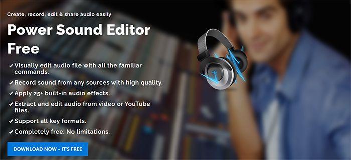 programa para grabar musica y voz gratis power sound editor